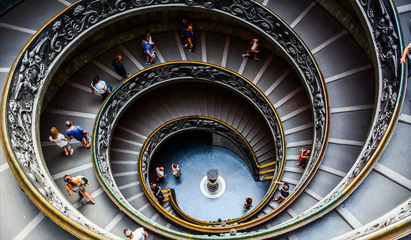 Bramante Staircase in Italy