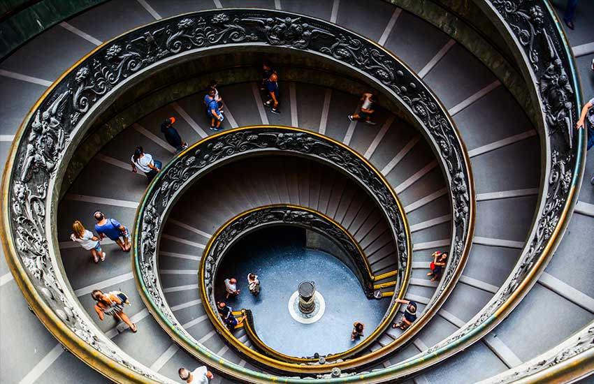 Spiral Bramante Staircase in the Vatican Museum