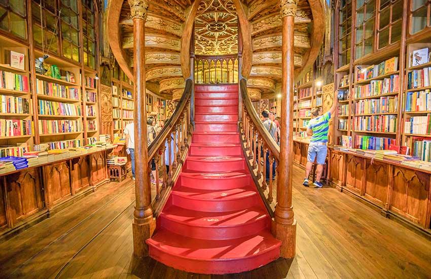 Staircase in the Lello Bookstore