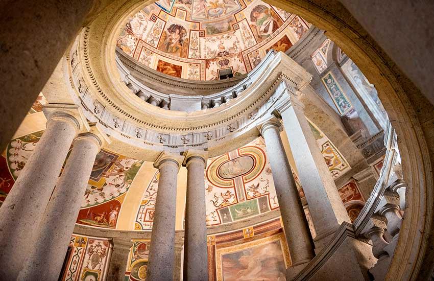 Villa Farnese spiral staircase
